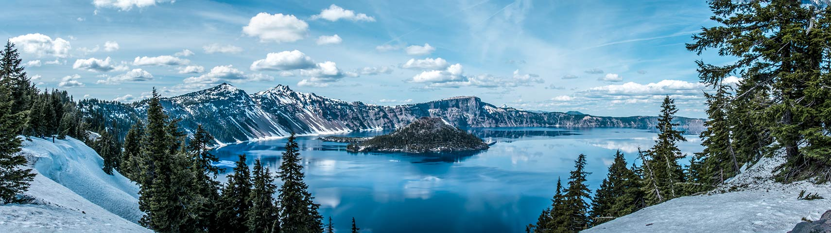 Crater Lake and Wizard Island, Oregon