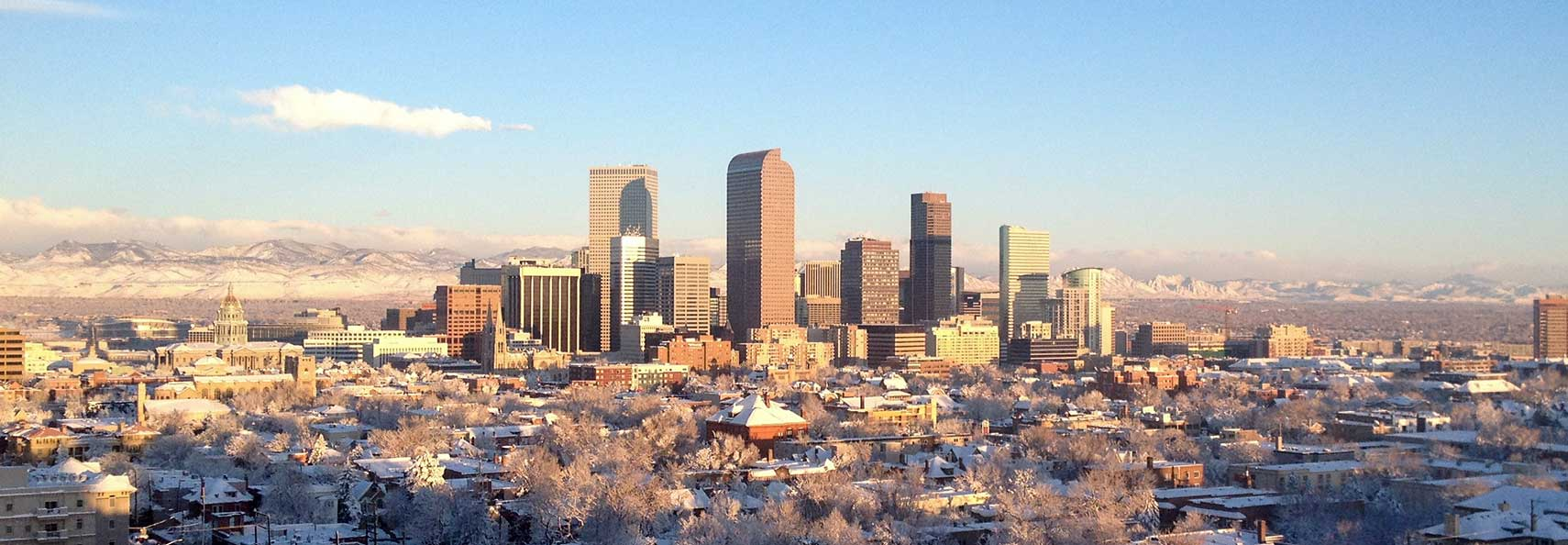 Google Map of Denver, Colorado, USA - Nations Online Project