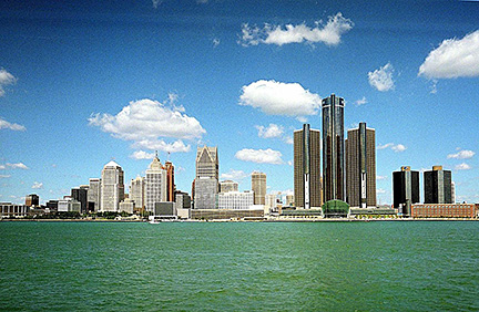 Google Map Of The City Of Detroit Michigan Usa Nations
