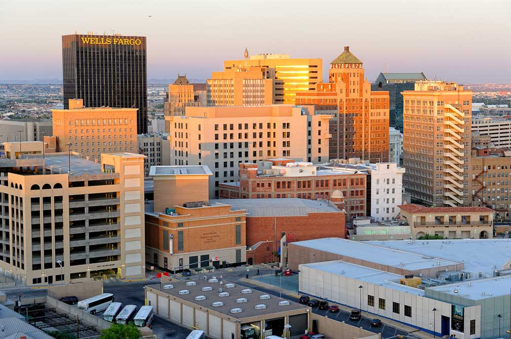 Downtown El Paso, Texas, USA