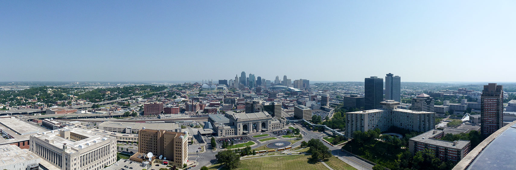 View from the Liberty Memorial on Downtown Kansas City, Missouri