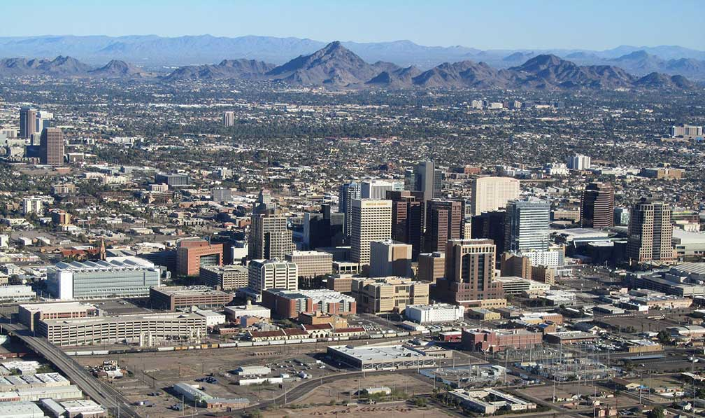 Google Map Of The City Of Phoenix Arizona USA Nations Online - Arizona map of usa