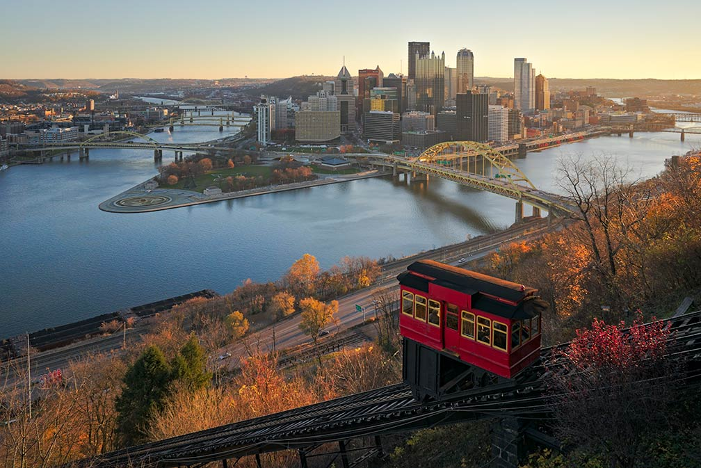 Downtown Pittsburgh and Duquesne Incline