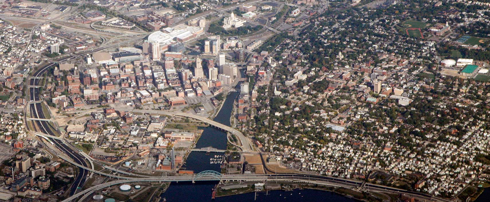 Aerial View Of Downtown Providence Rhode Island
