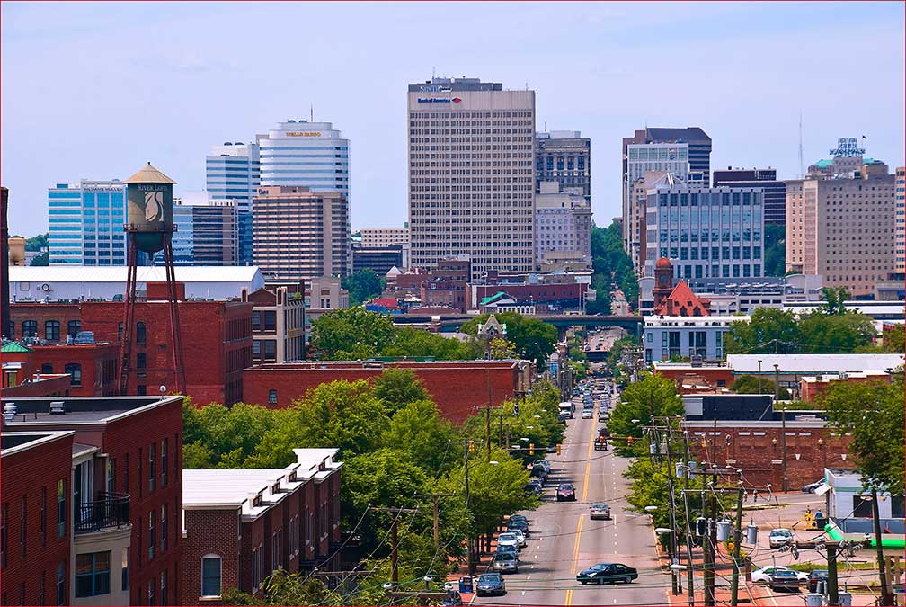 Downtown Richmond, Virginia, USA