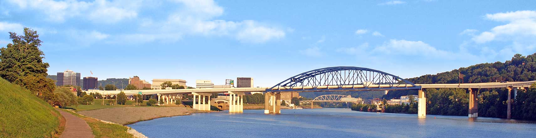 Eugene A Carter Memorial Bridge Over Kanawha River Charleston West Virginia