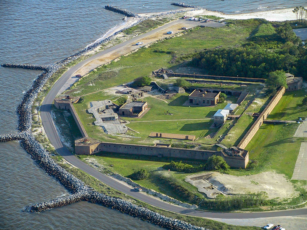 Fort Gaines on Dauphin Island, Alabama