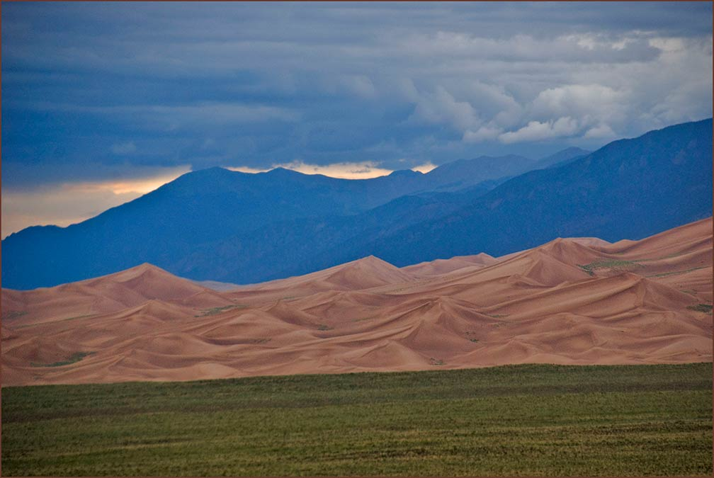 Storm over the Great Sand Dunes National Park in  Colorado