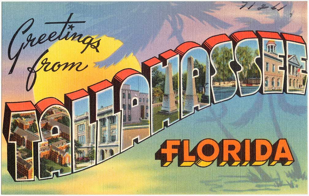 Greetings from Tallahassee, Florida (Postcard 1930-1945)