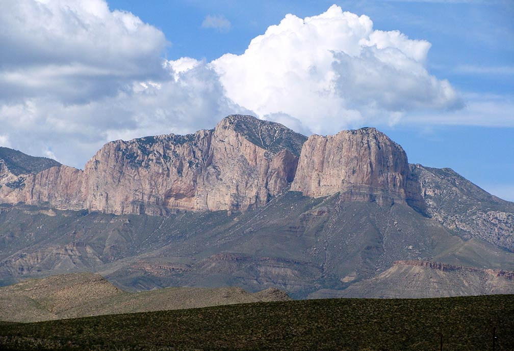 Guadalupe Peak in Guadalupe Mountains National Park, Texas
