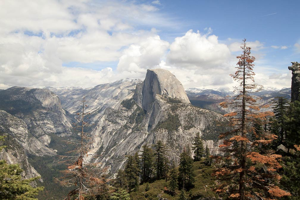 Half Dome seen from Glacier Point, Yosemite National Park, California