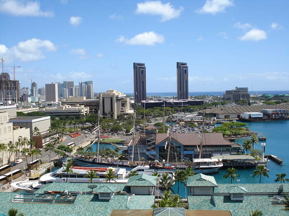 Google Map of Honolulu, Hawaii, USA - Nations Online Project