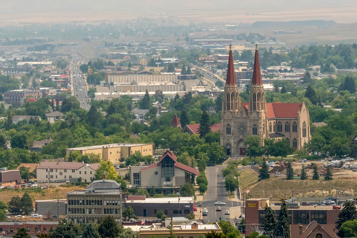 Helena with the Cathedral of St. Helena, Montana, USA