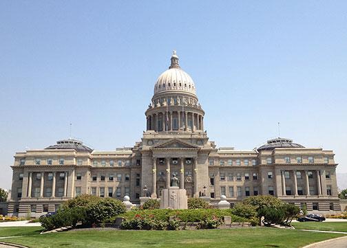 Google Map Of The City Of Boise Capital Of Idaho United