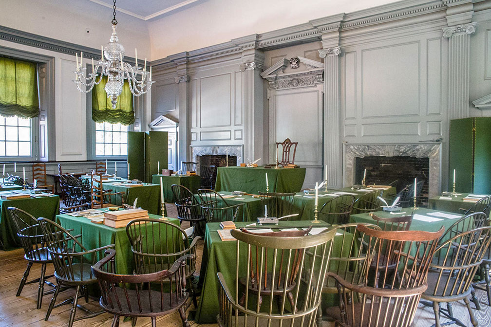 The Assembly Room in the Independence Hall in Philadelphia, Pennsylvania