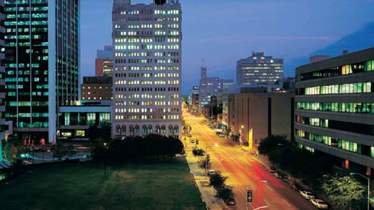 Downtown Street In Jackson Mississippi Usa