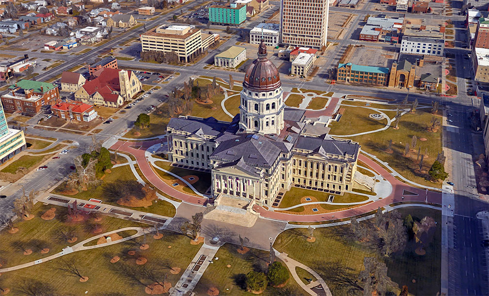Kansas Statehouse in Topeka, Kansas