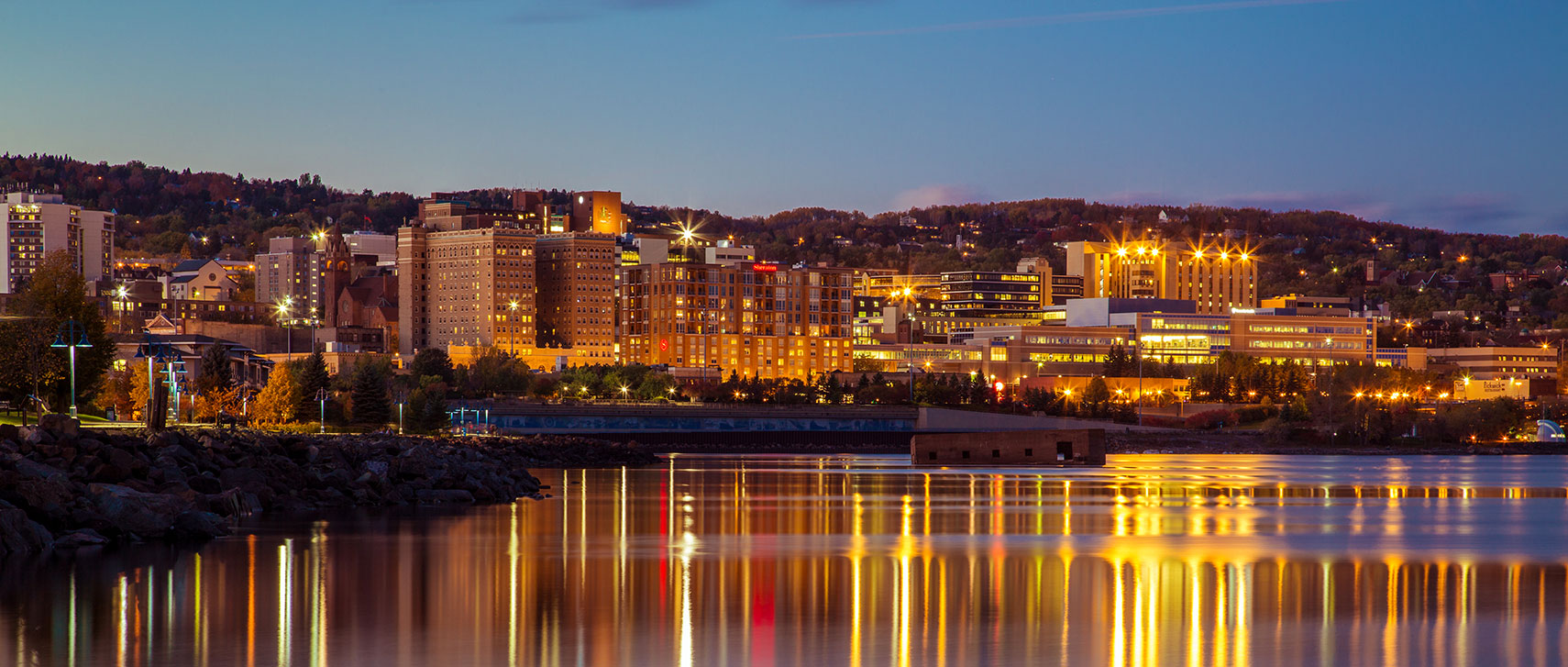 Lakefront skyline of Duluth, Minnesota