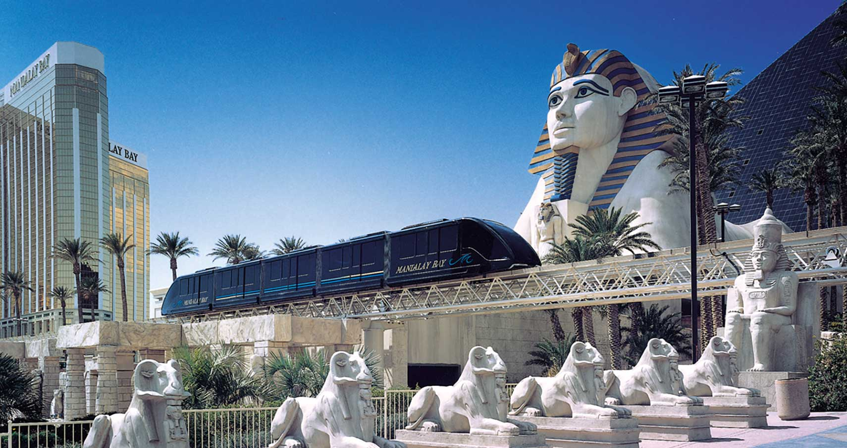 Mandalay Bay train in Las Vegas