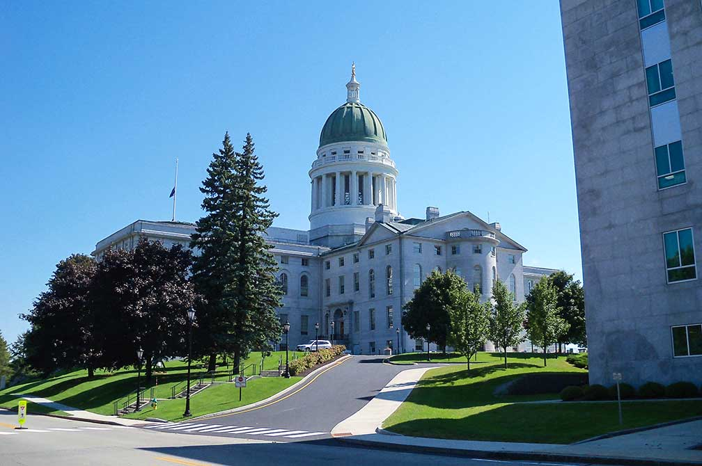 Google Map Of Augusta Capital Of Maine Usa Nations Online Project