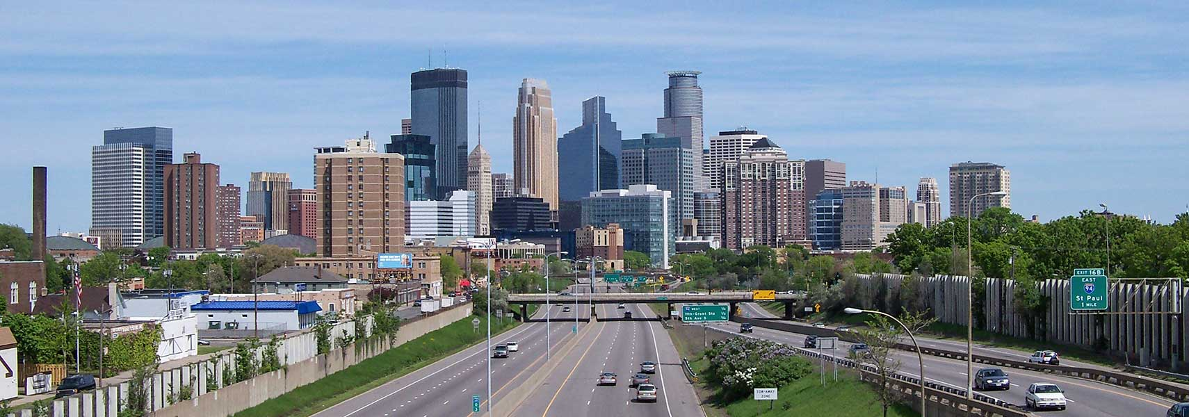 Google Map of the City of Minneapolis, Minnesota, USA - Nations ...
