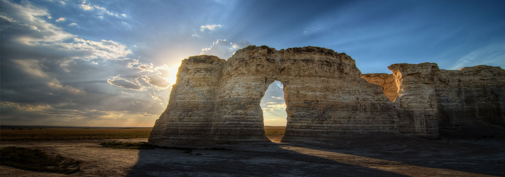 Monument Rocks in Gove County, Kansas