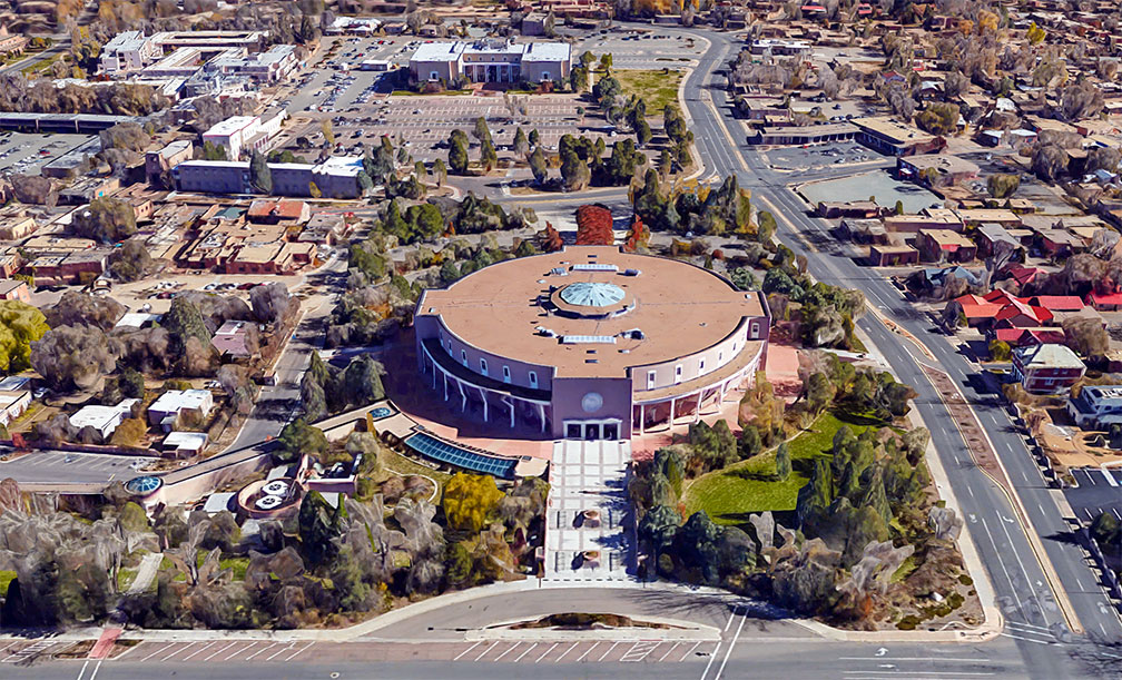 Reference maps of new mexico usa nations online project the roundhouse new mexico state capitol in santa fe sciox Choice Image