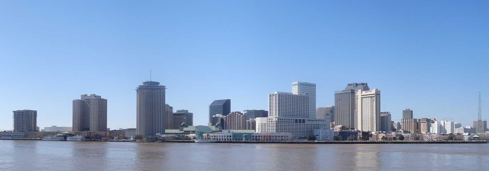 Google Map Of New Orleans Louisiana USA Nations Online Project - Map usa new orleans