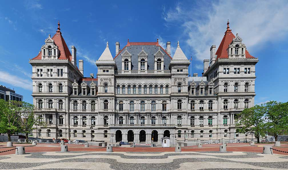 Capitol of New York state in Albany, New York state, USA
