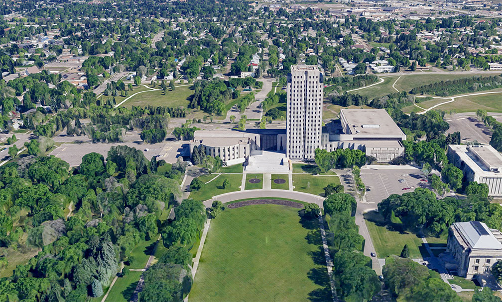 North Dakota State Capitol complex in the city of Bismarck