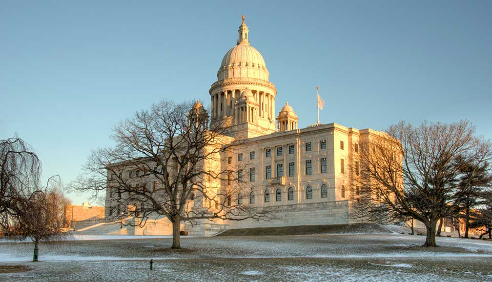 Rhode Island State House is the capitol of the U.S. state of Rhode Island, Providence, Rhode Island, USA