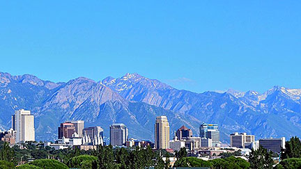 The skyline of Salt Lake City