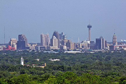 San Antonio Skyline with Tower of the America