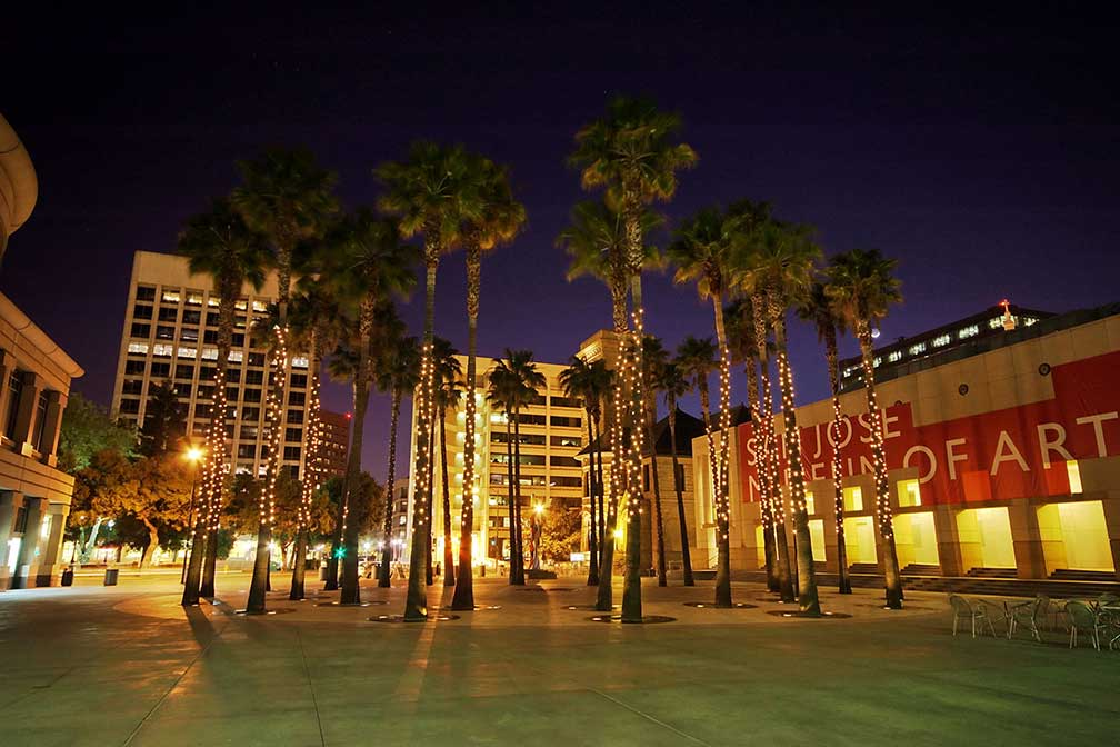 Circle of Palms Plaza in downtown San Jose, California
