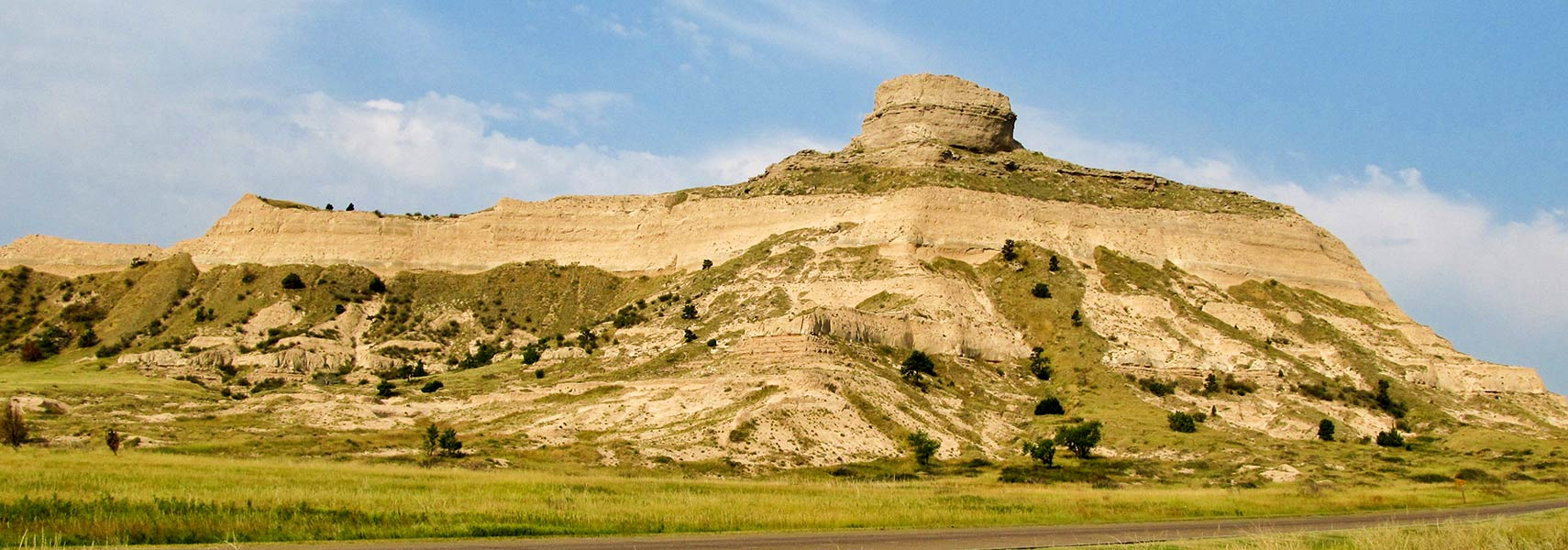 Scotts Bluff National Monument in Scotts Bluff County in Nebraska
