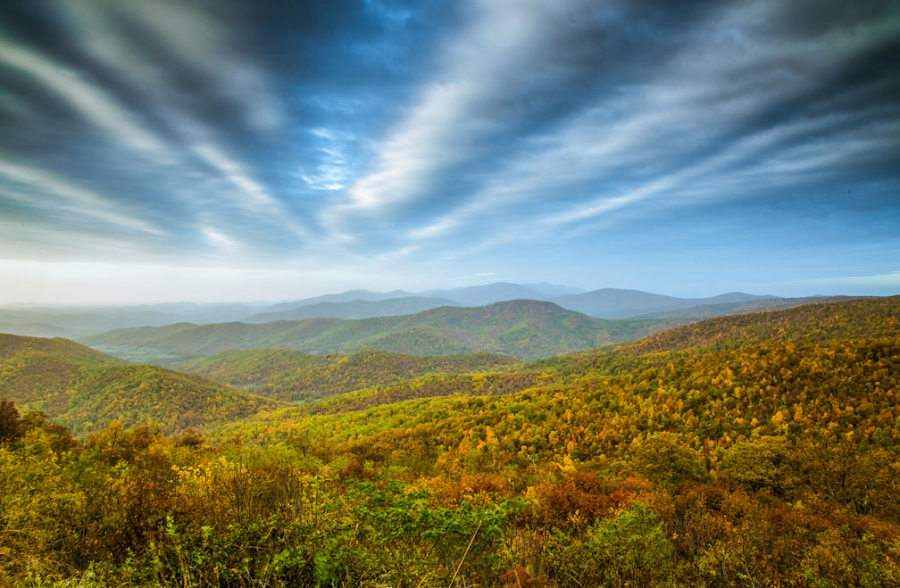 Skyline Drive in Shenandoah National Park