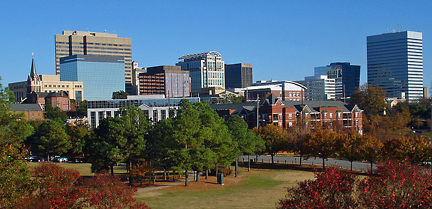 Skyline of the city of Columbia, South Carolina