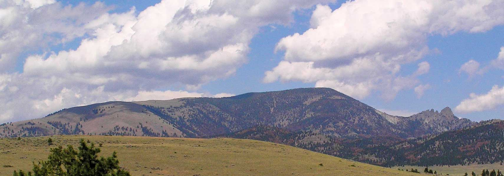 Sleeping Giant mountain formation north of Helena, Montana