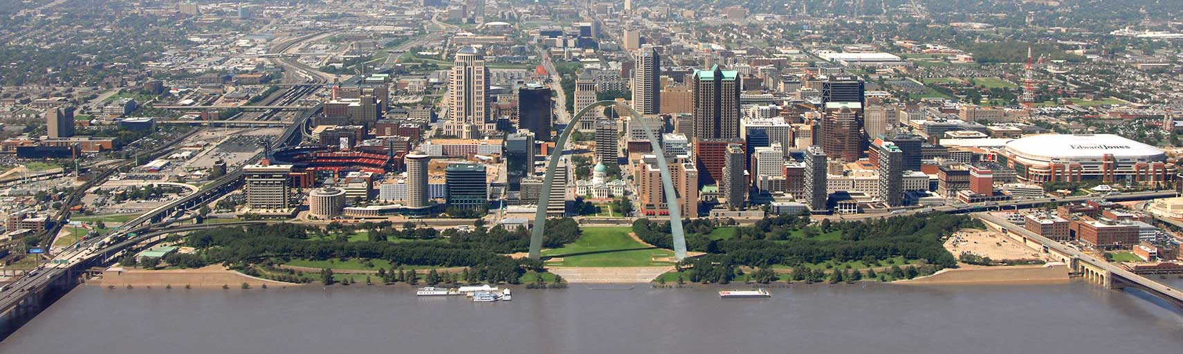 Aerial view of St. Louis