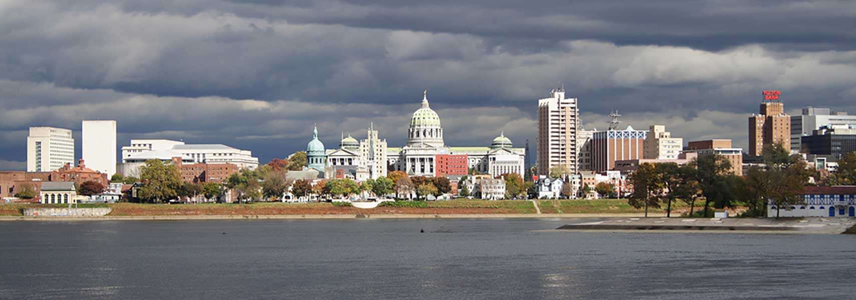 Google Map of Harrisburg capital of Pennsylvania USA Nations