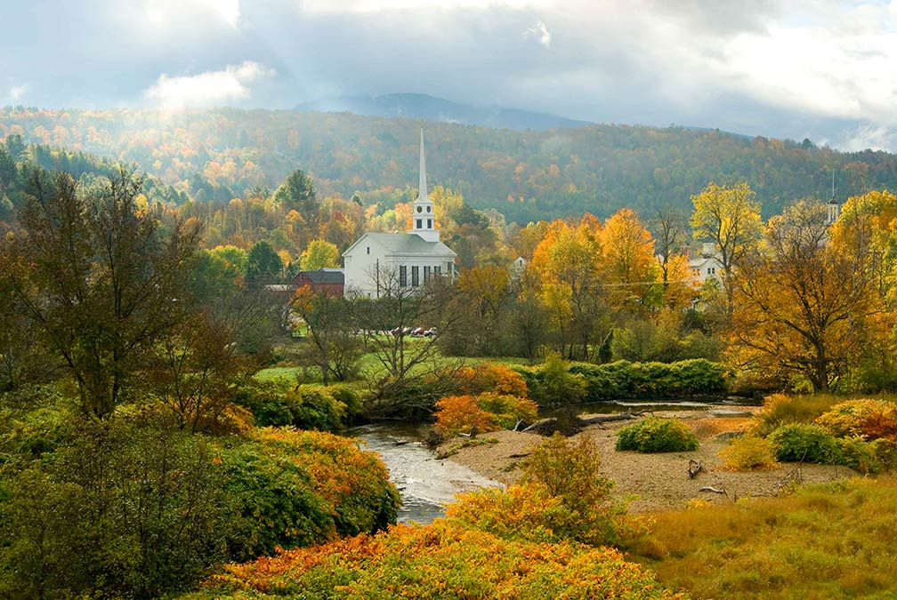Autumn in Stowe, Vermont