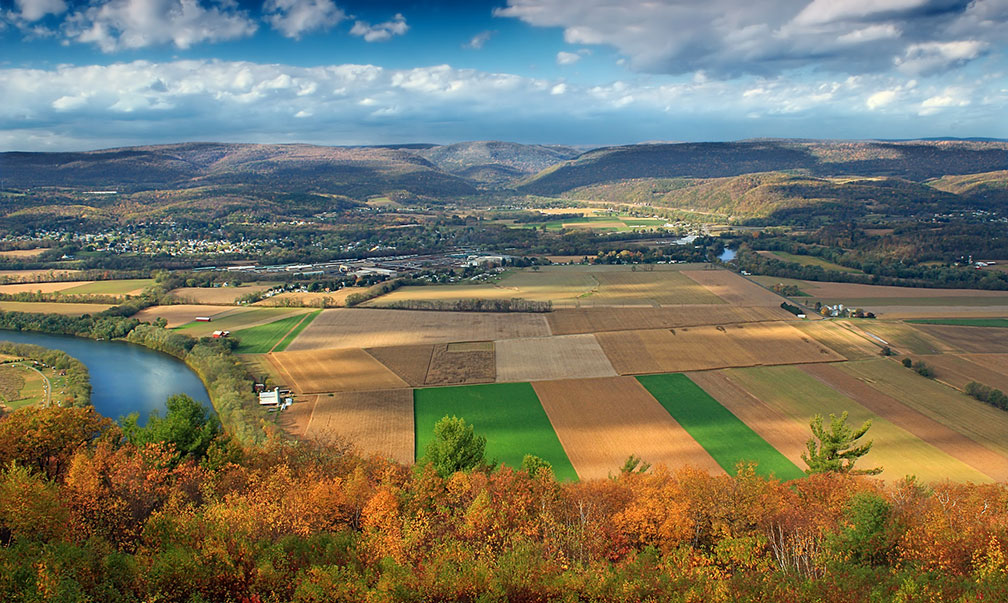 Susquehanna River Valley and the Allegheny Plateau