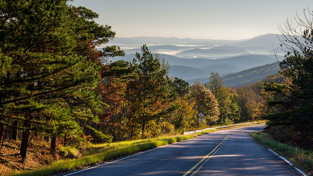 Talimena Scenic Drive within Ouachita National Forest