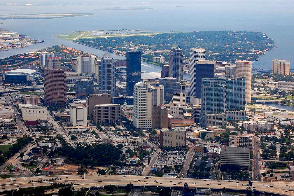 Downtown area of Tampa seen from the air