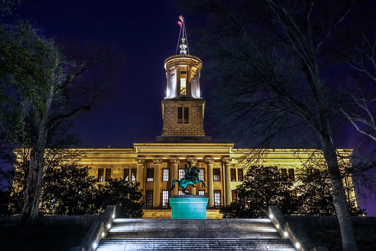 Tennessee State Capitol in Nashville, Tennessee, USA