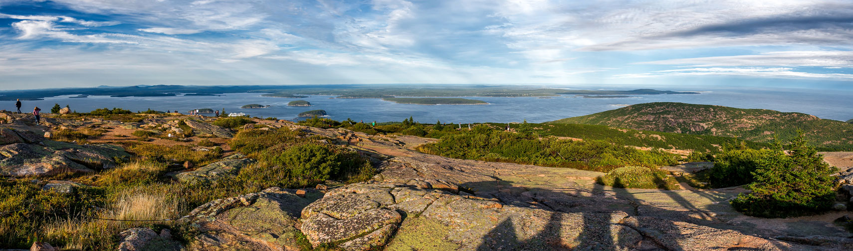 View from Cadillac Mountain on Mount Desert Island, Maine