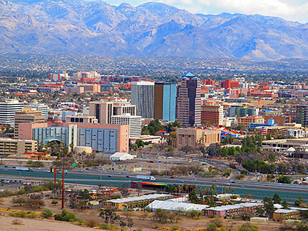 Google Map Of The City Of Tucson Arizona USA Nations Online - Arizona map of usa