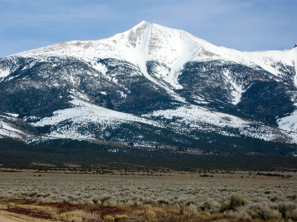 Wheeler peak in the Snake Range of Nevada