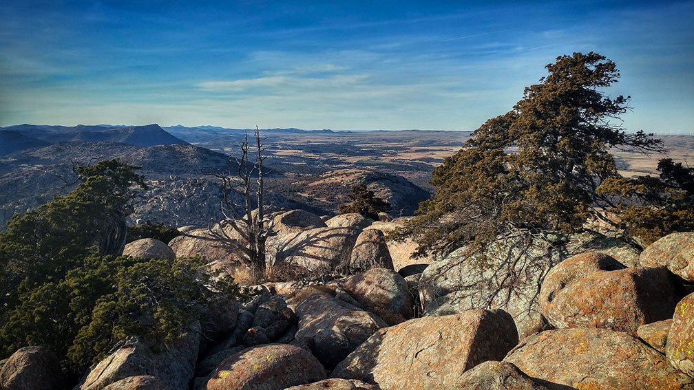 Wichita Mountains in Comanche County, Oklahoma