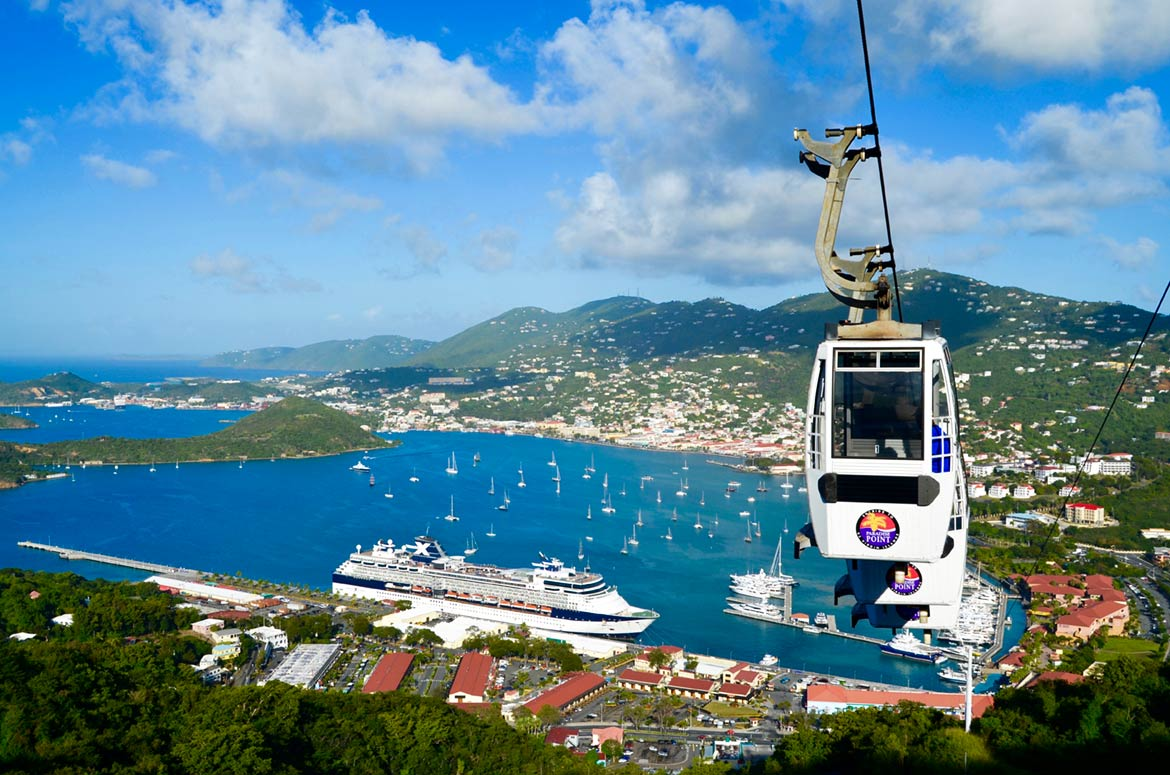 Us virgin islands st thomas st croix st john nations online charlotte amalie the capital of the us virgin islands seen from paradise point sciox Choice Image